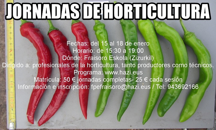 Jornadas de Horticultura para profesionales de la huerta
