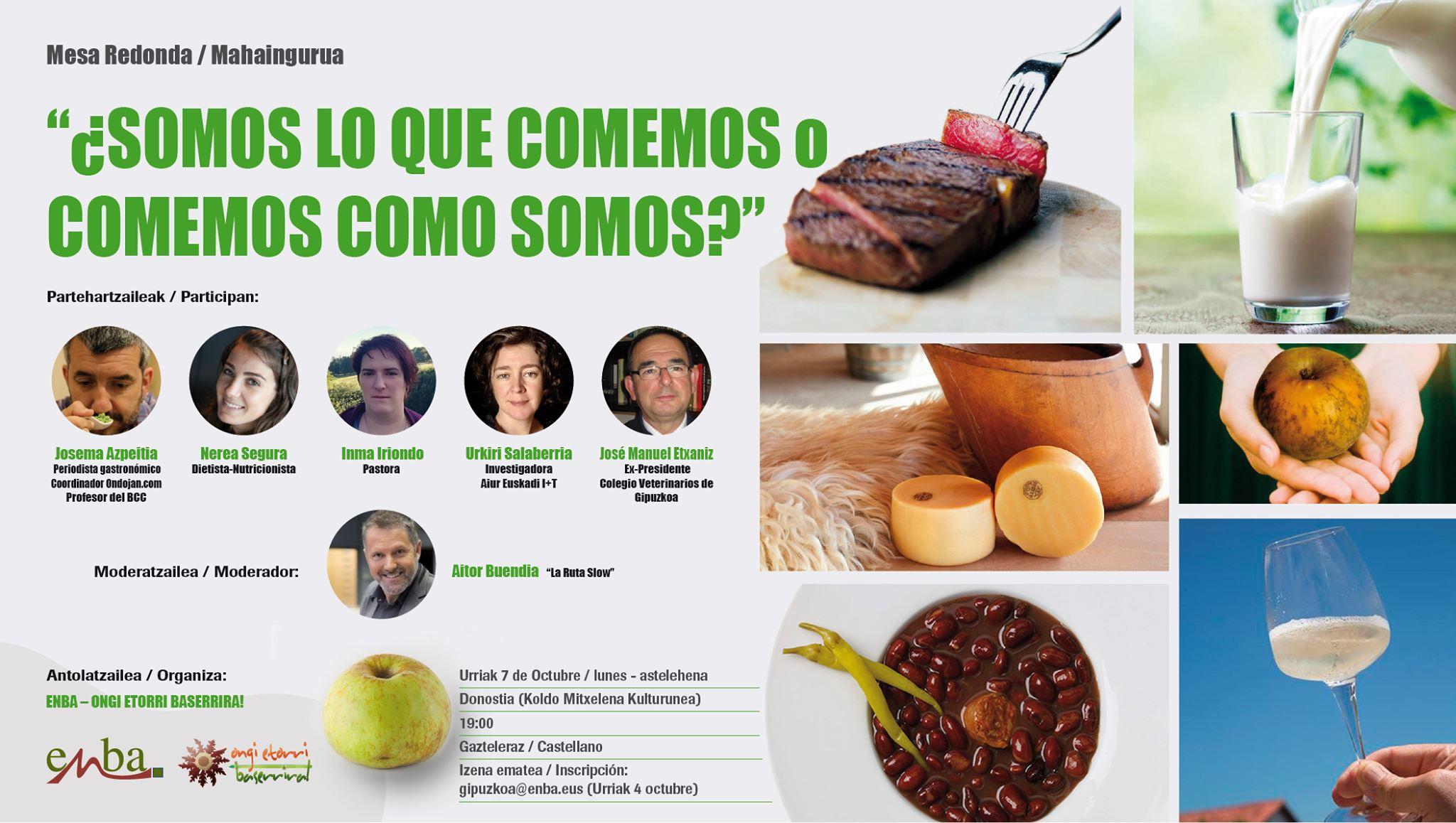 """ENBA celebra el Día Mundial de la Alimentación con la Mesa Redonda """"¿SOMOS LO QUE COMEMOS o COMEMOS COMO SOMOS?"""""""