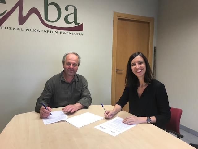 Firmado el convenio de colaboración entre ENBA y MERCADONA